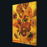 "Van Gogh - Vase with 15 Sunflowers Canvas Print<br><div class=""desc"">Van Gogh painting,  Vase with Fifteen Sunflowers,  canvas print.</div>"
