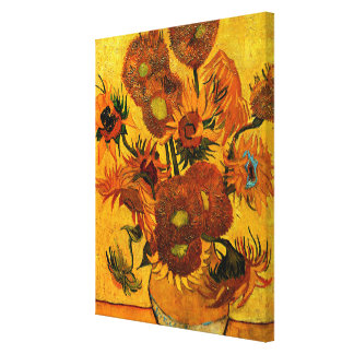 Van Gogh - Vase with 15 Sunflowers Canvas Print