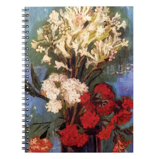 Van Gogh - Vase With Carnations And Other Flowers Spiral Notebook