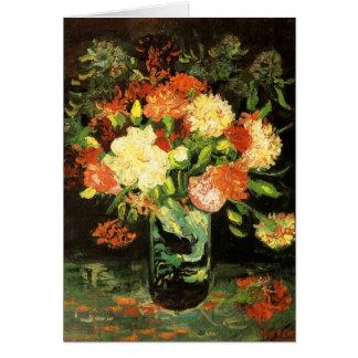 Van Gogh Vase with Carnations Card