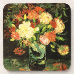 "Van Gogh Vase with Carnations Coasters<br><div class=""desc"">Van Gogh Vase with Carnations coasters. Oil painting from 1886. Van Gogh painted numerous flower paintings, several featuring carnations. Vase with Carnations is arguably Van Gogh's most beautiful carnation painting featuring white, red, and pink carnations in a clear glass vase. The flowers a stuffed into the vase and the blossoms...</div>"