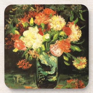 Van Gogh Vase with Carnations Coasters
