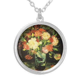 Van Gogh Vase with Carnations Necklace