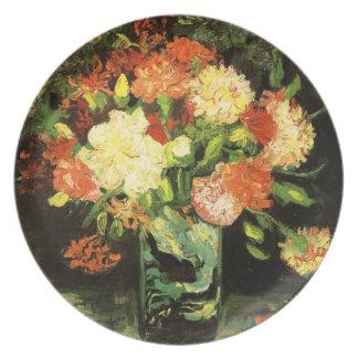 Van Gogh Vase with Carnations Plate