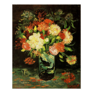 Van Gogh Vase with Carnations Poster