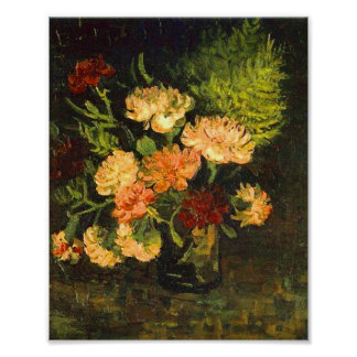 Van Gogh Vase with Carnations Posters