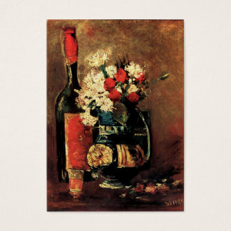 Van Gogh: Vase with Carnations, Roses and a Bottle Business Card