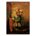 Van Gogh; Vase with Carnations, Roses and a Bottle Cards