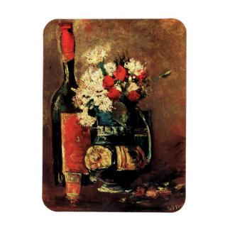 Van Gogh: Vase with Carnations, Roses and a Bottle Magnet