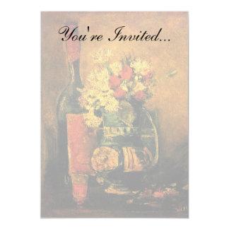 Van Gogh - Vase With Carnations, Roses & Bottle Card
