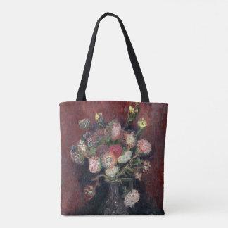 van Gogh Vase with Chinese Asters and Gladioli Tote Bag
