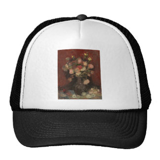 Van Gogh - Vase with Chinese asters and gladioli Trucker Hat