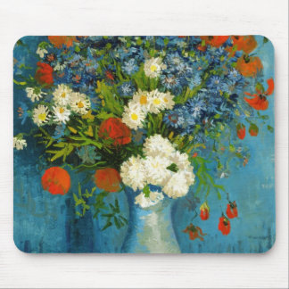 Van Gogh Vase with Cornflowers and Poppies Mouse Pad