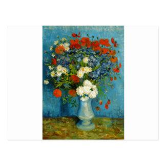 Van Gogh Vase with Cornflowers and Poppies Postcard