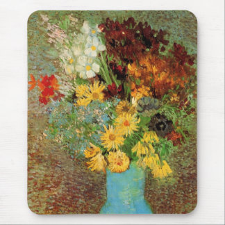 Van Gogh Vase with Daisies and Anemones Fine Art Mouse Pad