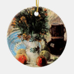 Van Gogh; Vase with Flowers, Coffeepot and Fruit Christmas Tree Ornaments