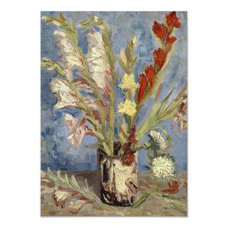 Van Gogh - Vase with gladioli and China asters Card
