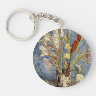 Van Gogh - Vase with gladioli and China asters Keychain