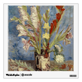 Van Gogh - Vase with gladioli and China asters Wall Sticker