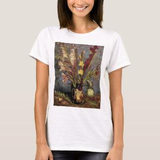 Van Gogh Vase with Gladioli, Vintage Fine Art T-Shirt