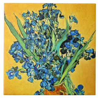 Van Gogh Vase With Irises Tiles