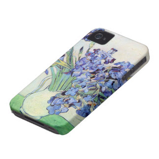 Van Gogh Vase with Irises, Vintage Floral Fine Art Case-Mate iPhone 4 Case