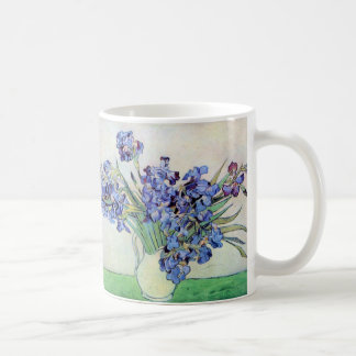 Van Gogh Vase with Irises, Vintage Floral Fine Art Coffee Mug