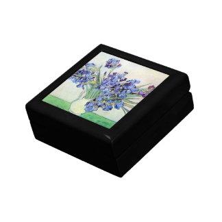 Van Gogh Vase with Irises, Vintage Floral Fine Art Gift Box
