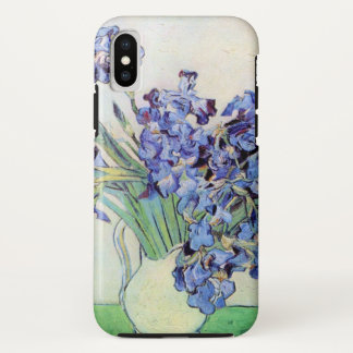 Van Gogh Vase with Irises, Vintage Floral Fine Art iPhone X Case