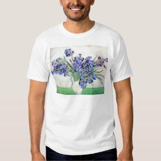 Van Gogh Vase with Irises, Vintage Floral Fine Art T-shirt