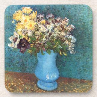 Van Gogh: Vase with Lilac, Marguerites & Anemones Beverage Coaster