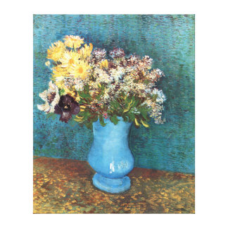 Van Gogh: Vase with Lilac, Marguerites & Anemones Gallery Wrapped Canvas