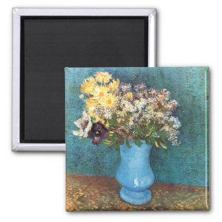 Van Gogh: Vase with Lilac, Marguerites & Anemones 2 Inch Square Magnet