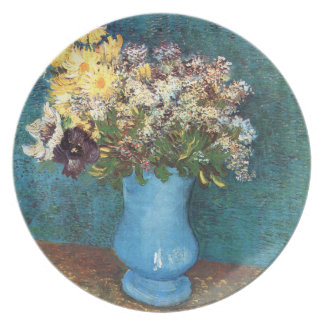 Van Gogh: Vase with Lilac, Marguerites & Anemones Melamine Plate