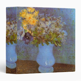 Van Gogh Vase with Lilacs, Daisies and Anemones 3 Ring Binder
