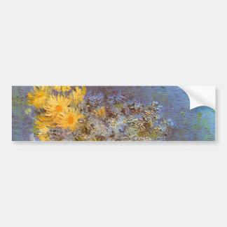 Van Gogh Vase with Lilacs, Daisies and Anemones Car Bumper Sticker