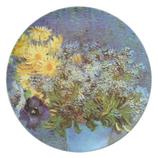 Van Gogh - Vase With Lilacs, Daisies And Anemones Dinner Plate