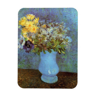 Van Gogh - Vase With Lilacs, Daisies And Anemones Magnet