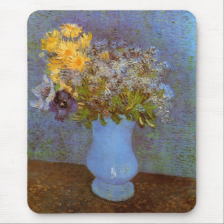 Van Gogh Vase with Lilacs, Daisies and Anemones Mouse Pad