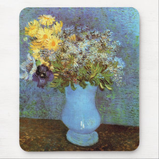 Van Gogh - Vase With Lilacs, Daisies And Anemones Mouse Pad