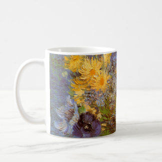 Van Gogh Vase with Lilacs Daisies and Anemones Coffee Mugs