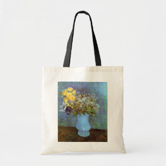 Van Gogh - Vase With Lilacs, Daisies And Anemones Tote Bag