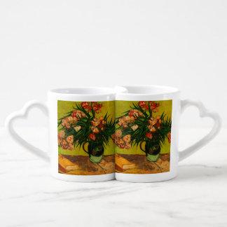 Van Gogh Vase With Oleanders And Books Floral Art Coffee Mug Set