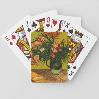 Van Gogh Vase With Oleanders And Books Floral Art Poker Deck