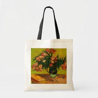 Van Gogh Vase With Oleanders And Books Floral Art Tote Bag