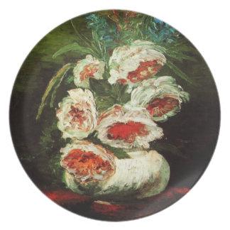 Van Gogh Vase with Peonies Plate