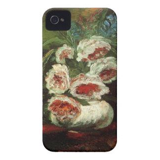 Van Gogh Vase with Peonies, Vintage Fine Art iPhone 4 Cover