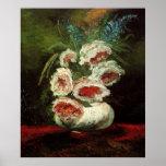 Van Gogh Vase with Peonies, Vintage Floral Flowers Print