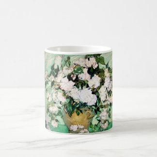 Van Gogh Vase with Pink Roses Mug