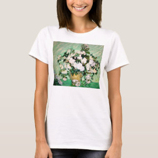 Van Gogh Vase with Pink Roses T-shirt